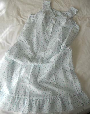 Nwot Vintage Counterparts Aqua Flower Print Cotton Poly Nightie Daisy Lace 12