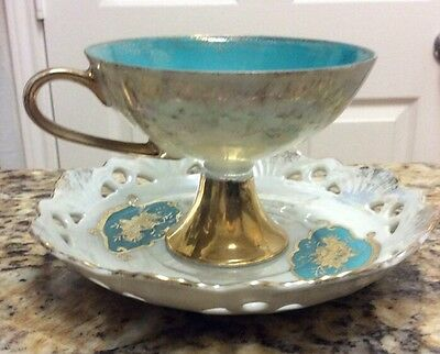 Beautiful, Vintage Made in Japan. Gold Trimmed Cup and Saucer