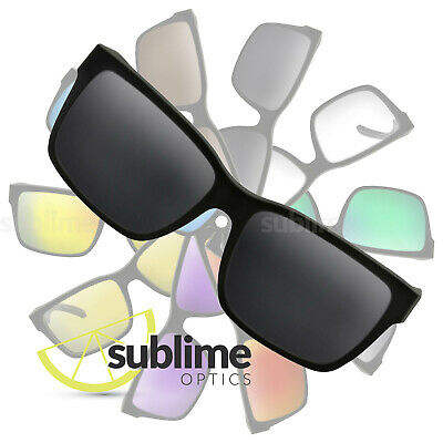 POLARIZED Black (Dark Grey) Replacement Lenses for Von Zipper Elmore  ~ Charcoal