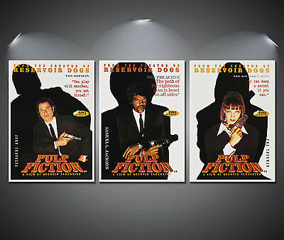Pulp Fiction Vintage Movie Poster Set - A2, A3, A4 Sets