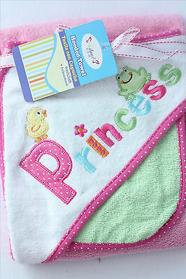 New 100% cotton 350GSM Baby Kid Bath Towel Hooded Towel Embroidered Pattern 1