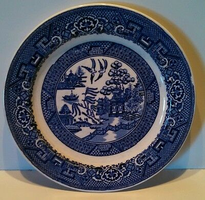 VINTAGE HOMER LAUGHLIN BLUE WILLOW BREAD & BUTTER PLATE