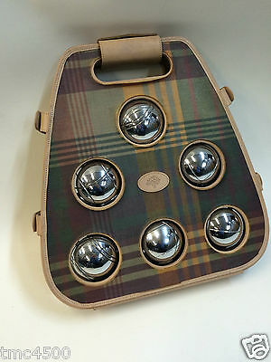 Mulberry Boules set, Heavy Metal balls, In Mulberry carry case