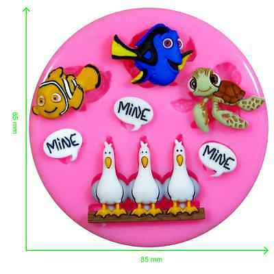 Disney Finding Nemo Silicone Mould by Fairie Blessings