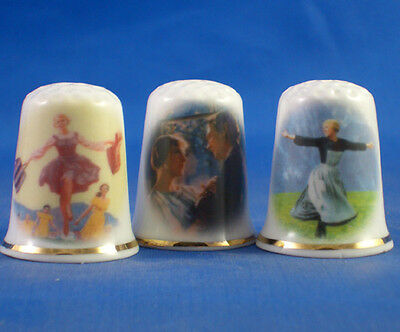 Fine Porcelain China Thimbles - Set Of  Three Sound Of Music