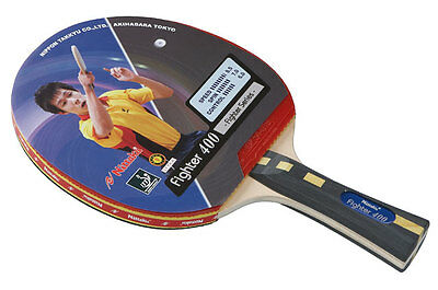 Fighter 400 - Nittaku Table Tennis Bat with Rubber