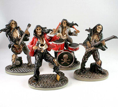 Nemesis Now Gothic Skeleton Rock Band | Music Playing Skull Figures - 10cm