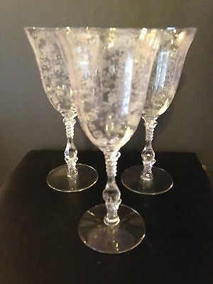 Cambridge Rosepoint Lot of 3 water goblets