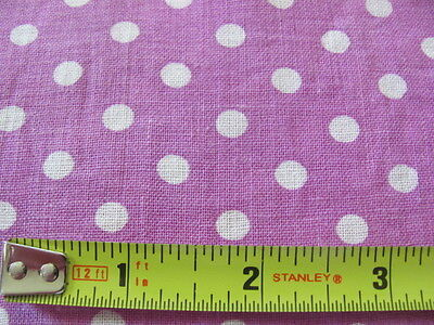 Vintage small size lavender violet polka dot authentic cotton feed sack