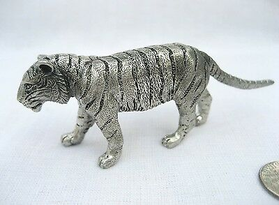 Miniature Pewter Tiger Standing Figurine 3.25 CM Height FREE SHIPPING