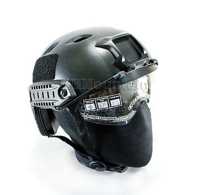 Emerson BJ Clear Len Helmet with NVG Mount Two Side Rail / Black (KHM Airsoft)