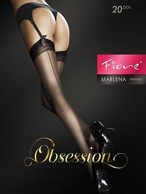 Fiore Obsession Marlena Back Seam Effect Stockings 20 Denier Stockings S M L new
