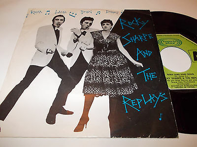 ROCKY SHARPE and THE REPLAYS rama lama ding dong 45 DOO WOP 1979 Portugal 7''