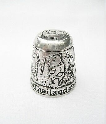Pewter Fingerstall Thimble Souvenir Thailand Collection Pooh and Friends #7