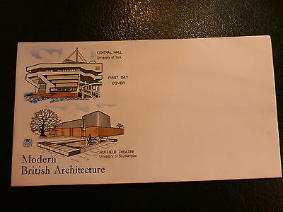 GB Modern British Architecture First Day Cover Envelope - No Stamps