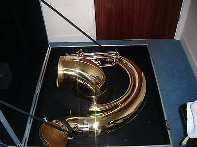 SOUSAPHONE TUYAMA TSS-174 BbBb WITH SHORT ACTION SYSTEM AND CASE  PLUS STAND
