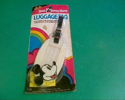 Walt Disney World Luggage Tag Mickey Mouse New Old Stock