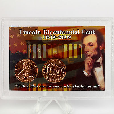 2009 P & D Lincoln Cents Uncirculated Set, KY Birth & Early Childhood Log Cabin