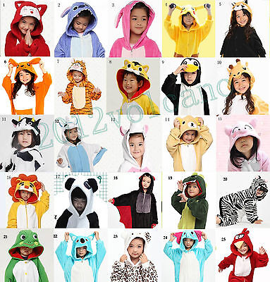 New Top Children Kids Boys Girls Pajamas Unisex Cosplay Animal Onesie Sleepwear