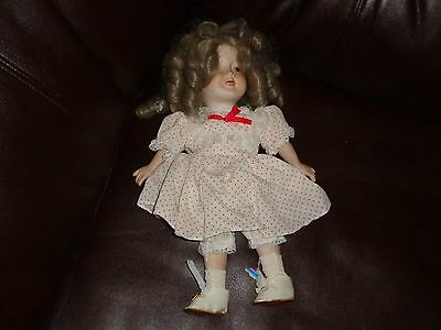 1978 IDEAL SHIRLEY TEMPLE DOLL PORCELAIN RARE NICE CLEAN