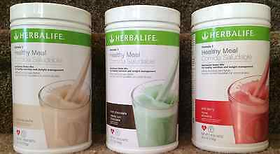 3 HERBALIFE FORMULA1 SHAKES - FREE FEDEX SHIPPING (9 FLAVORS AVAILABLE)