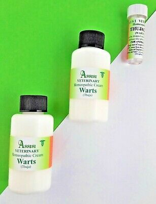HOMEOPATHIC THUJA CREAM 2 X 60ml & THUJA 200 KIT-FOR WARTS & SARCOIDS IN ANIMALS