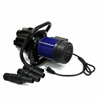 925GPH 1.6 HP Portable Cast Iron Utility Shallow Well Jet Pump for Clean Water
