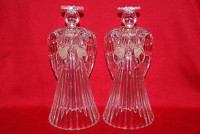 Glowing Angel Crystal Christmas Candlestick Holders from Avon's Gift Collection