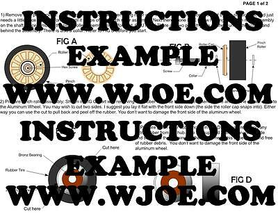RT-909 RT-901 Pinch Roller Kit with Instructions and tools