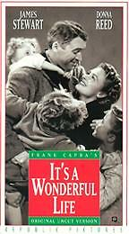It's a Wonderful Life (VHS, 1993) with James Stewart and Donna Reed - NEW