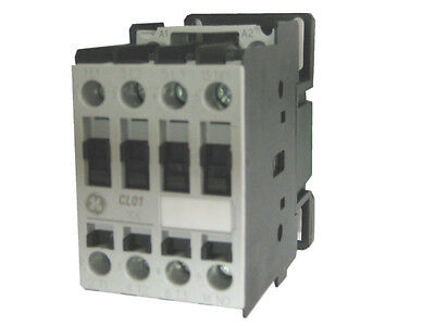 GE CL01A310T1 3 pole 25 AMP contactor with a 24 volt AC coil and 1 NO contact
