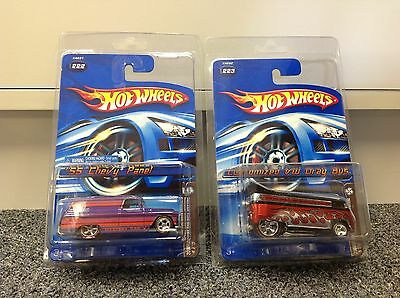 '55 Chevy Panel AND Customized VW Drag Bus 2006 Hot Wheels Mystery 222 + 223