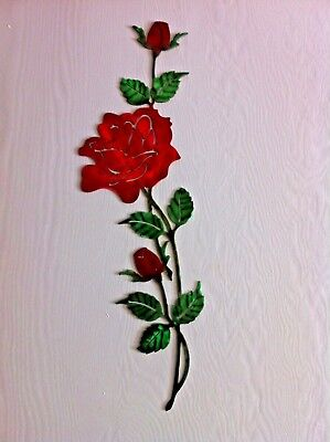 Metal Wall Roses With Buds Metal Dyed Flower Metal Wall Roses