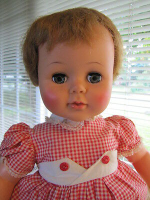 """Large Ideal Kissy Doll with original romper ~ 22"""" Tall"""