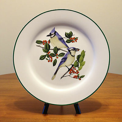 "Large Blue Jay 12"" Chop Plate - National Wildlife Federation - Bird Platter EUC"