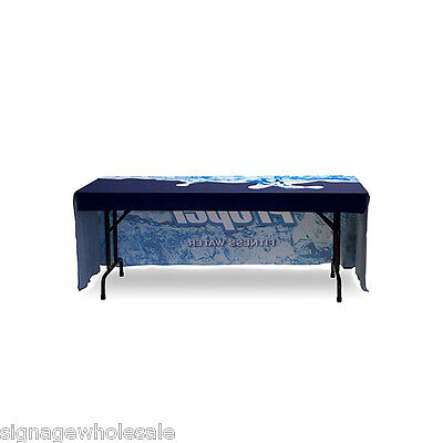8ft Three Side Print Promotional Table Cover for display exhibition trade show