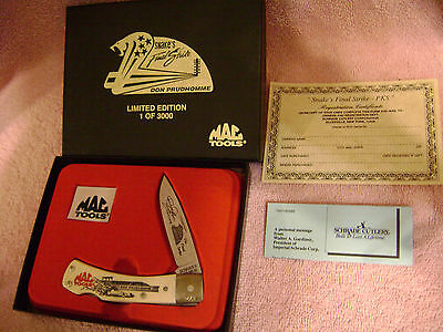 Mac tools1OF3000 knife snakes final strike don prudhomme NEW IN BOX-SCHRADE USA