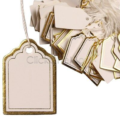 Gold Price Tag Retail Label Tie String Jewelry Watch Display Pack of 1000