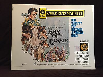 ORIGINAL 1971 THE SON OF LASSIE Half Sheet Movie Poster 22 x 28 MGM /TECHNICOLOR
