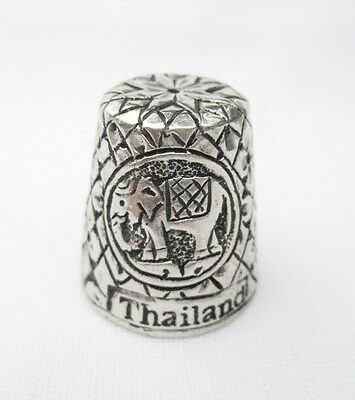 Pewter Fingerstall Thimble Souvenir Thailand Collection Elephant#1 FREE SHIPPING