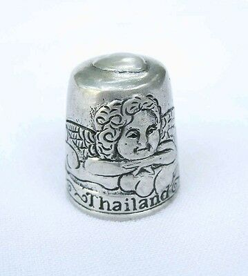 Pewter Fingerstall Thimble Souvenir Thailand Collection Cupid #4