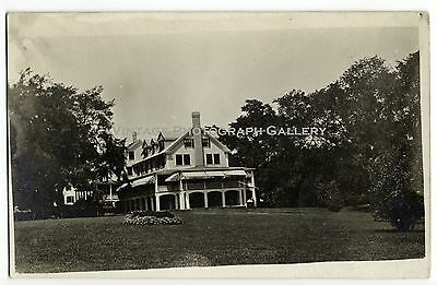 Antique Real Photo Postcard RPPC Large House Rockport Maine ME 1916