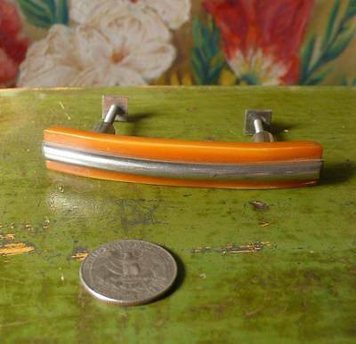 1 art deco TESTED bakelite metal Pull handles knobs 38 grams (s11256)