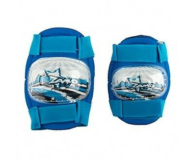 Boys Elbow and Knee Pads blue Velcro cycle bike kids protective