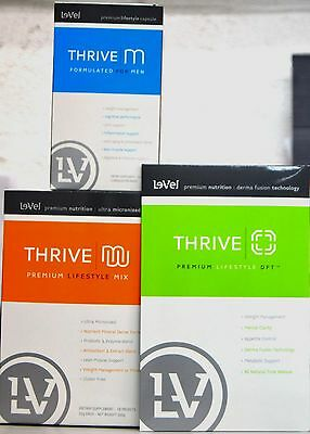 Le-Vel THRIVE Men 30-Day Pack - Vitamins, DFT Patches and Shakes