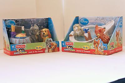 Little People, Bambi, Thumper, Lady and the Tramp, Disney Fisher-Price X7831 NIB