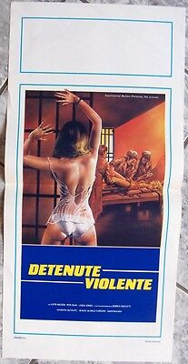 Locandina DETENUTE VIOLENTE HELL penitentiary  prison-movie og IT 1983
