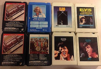 8 Track Tapes  The BEATLES /  ELVIS and  JIMMY BUFFET   Lot of 8   L@@K