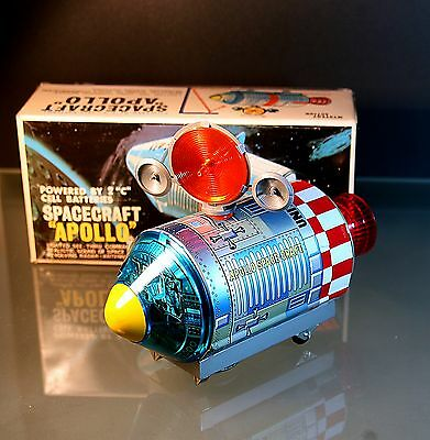 Alps Tin Apollo spacecraft battery operated japan top condition