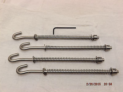 Kelsey 5X8 Letterpress Ink Roller Hooks, Set of 4 - NEW made of stainless steel